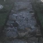Deteriorated walkway