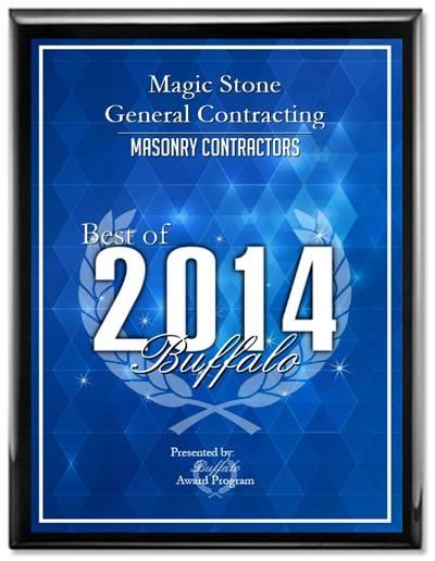 Masonry Contractor Buffalo New York Award